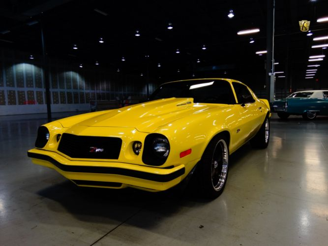 1974 Chevrolet Camaro z-28 yellow chevy cars classic wallpaper