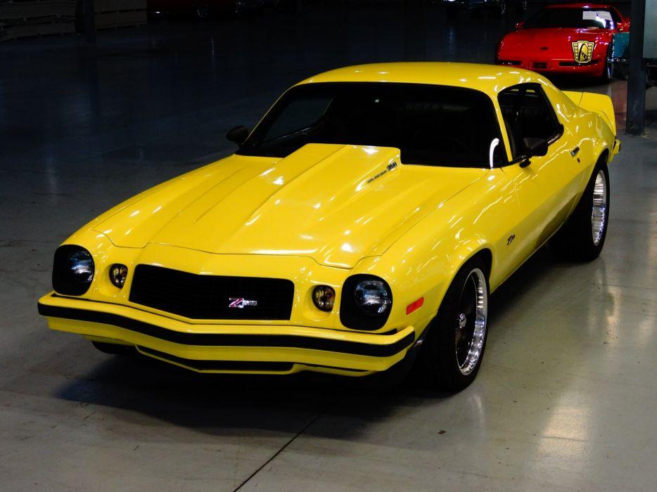 1974 Chevrolet Camaro z-28 yellow chevy cars classic wallpaper