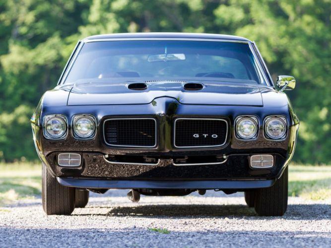 1970 Pontiac GTO The Judge Ram Air IV hardtop Coupe cars black classic wallpaper