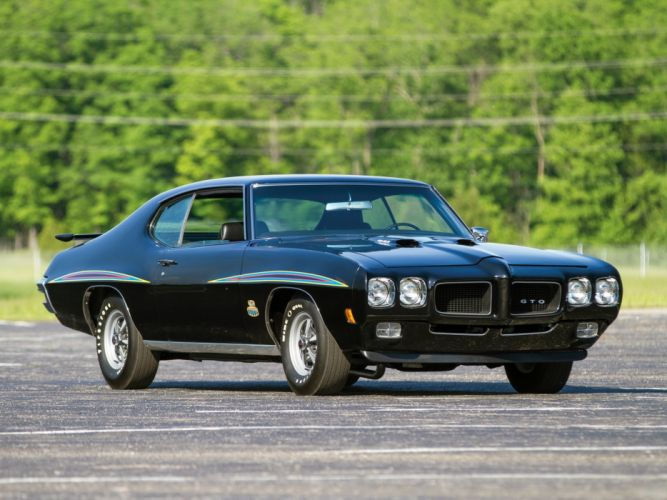 1970 Pontiac GTO The Judge Ram Air IV hardtop Coupe cars black classic wallpaper