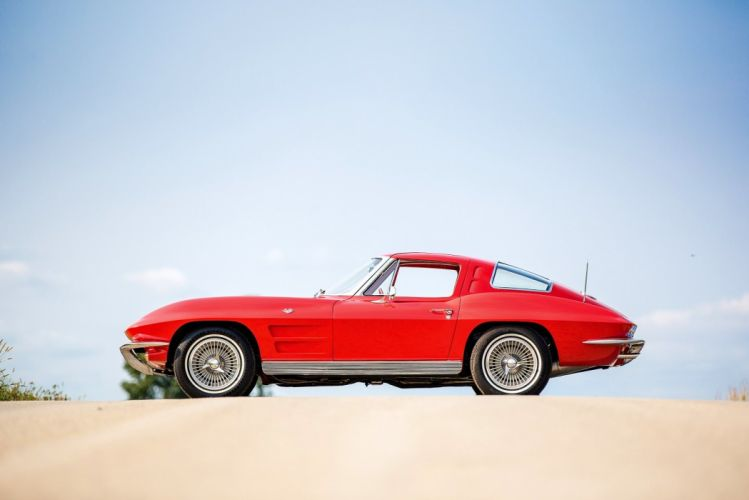 1963 Chevrolet chevy Corvette StingRay L76 (C2) cars red coupe classic wallpaper
