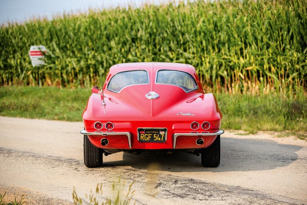 1963 Chevrolet chevy Corvette StingRay L76 (C2) cars red coupe classic wallpaper