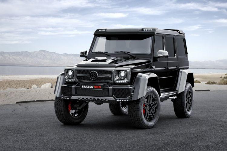 Brabus Mercedes G500 4x4 cars black 2015 modified wallpaper