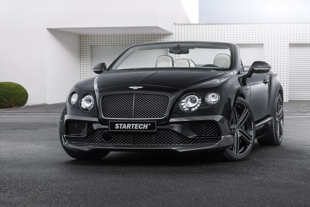 Startech Bentley Continental Gt Convertible Black Cars Modified 2015 Wallpaper 4096x2731 802635 Wallpaperup
