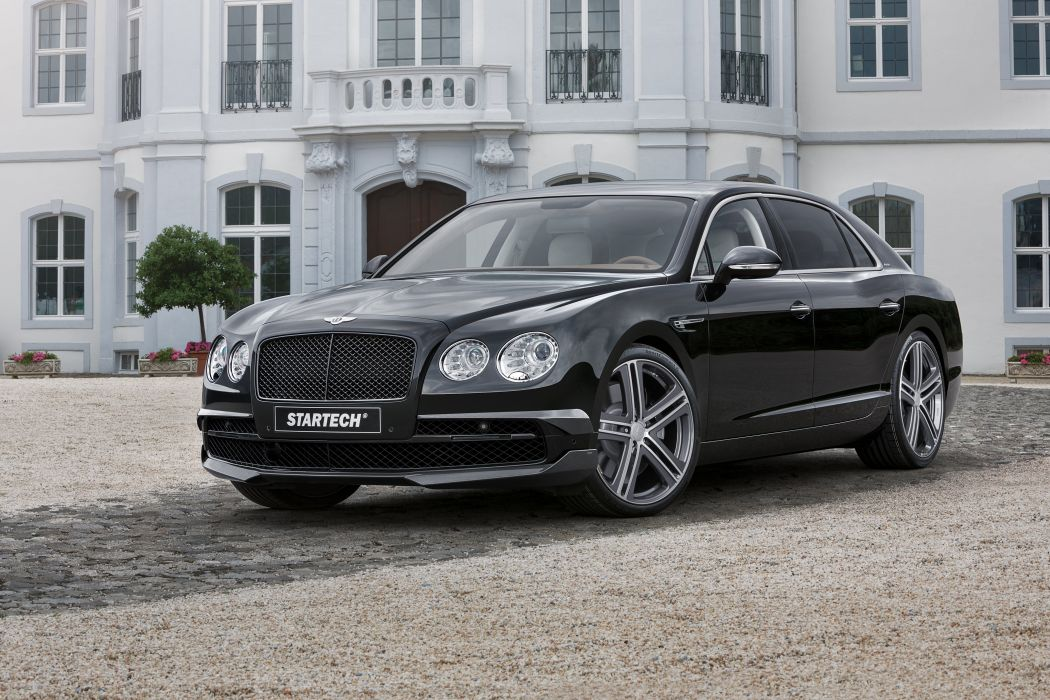 Startech Bentley Continental Flying Spur black cars modified 2015 wallpaper