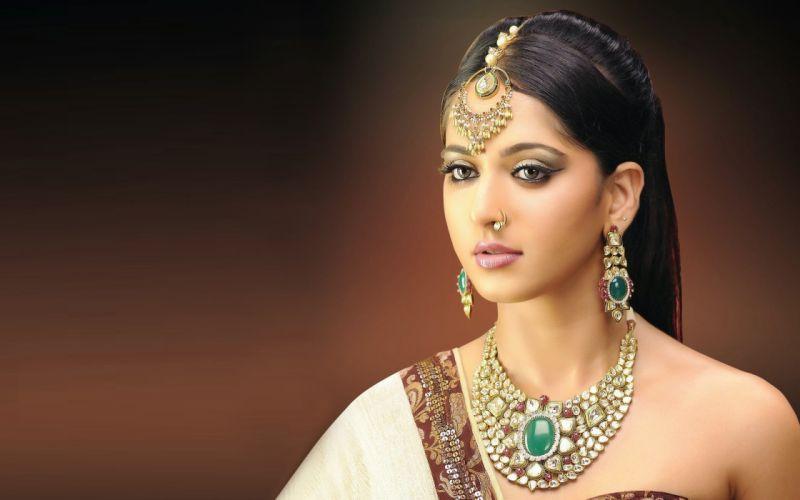 anushka shetty bollywood actress model girl beautiful brunette pretty cute beauty sexy hot pose face eyes hair lips smile figure indian wallpaper