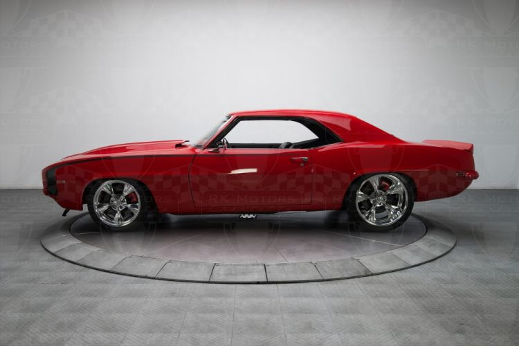 1969 Chevrolet Camaro red coupe cars classic wallpaper