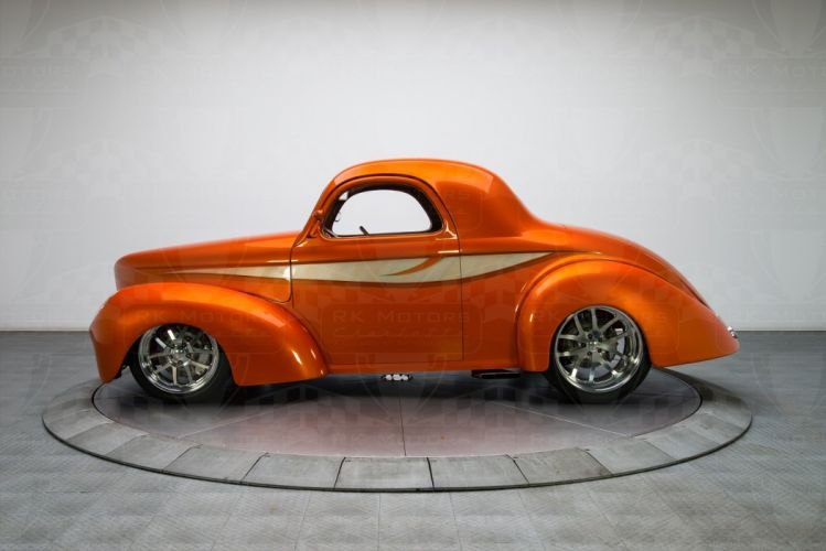 1941 Willys Coupe custom cars classic wallpaper