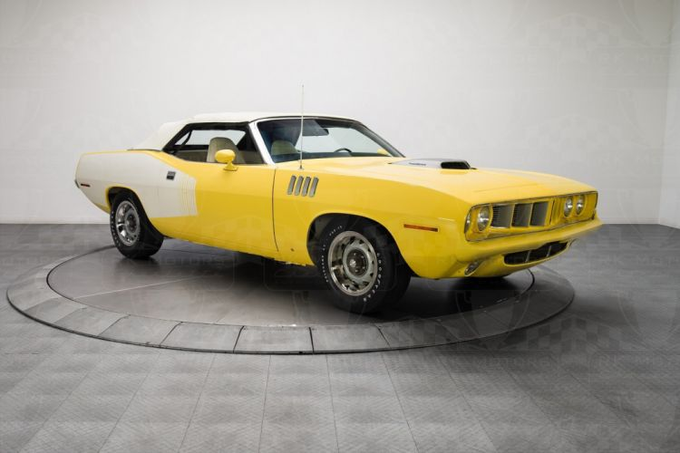 1971 Plymouth Cuda convertible cars classic wallpaper