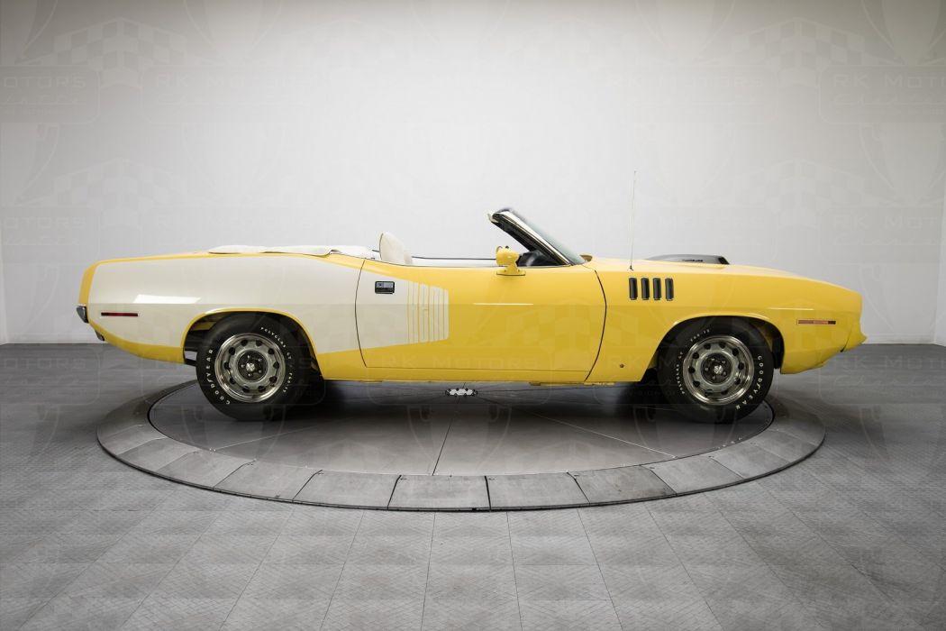 1971 Plymouth Cuda convertible cars classic wallpaper