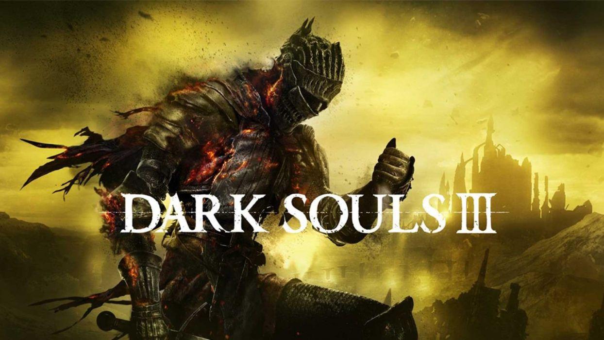 DARK SOULS 3 action rpg fighting warrior fantasy poster wallpaper