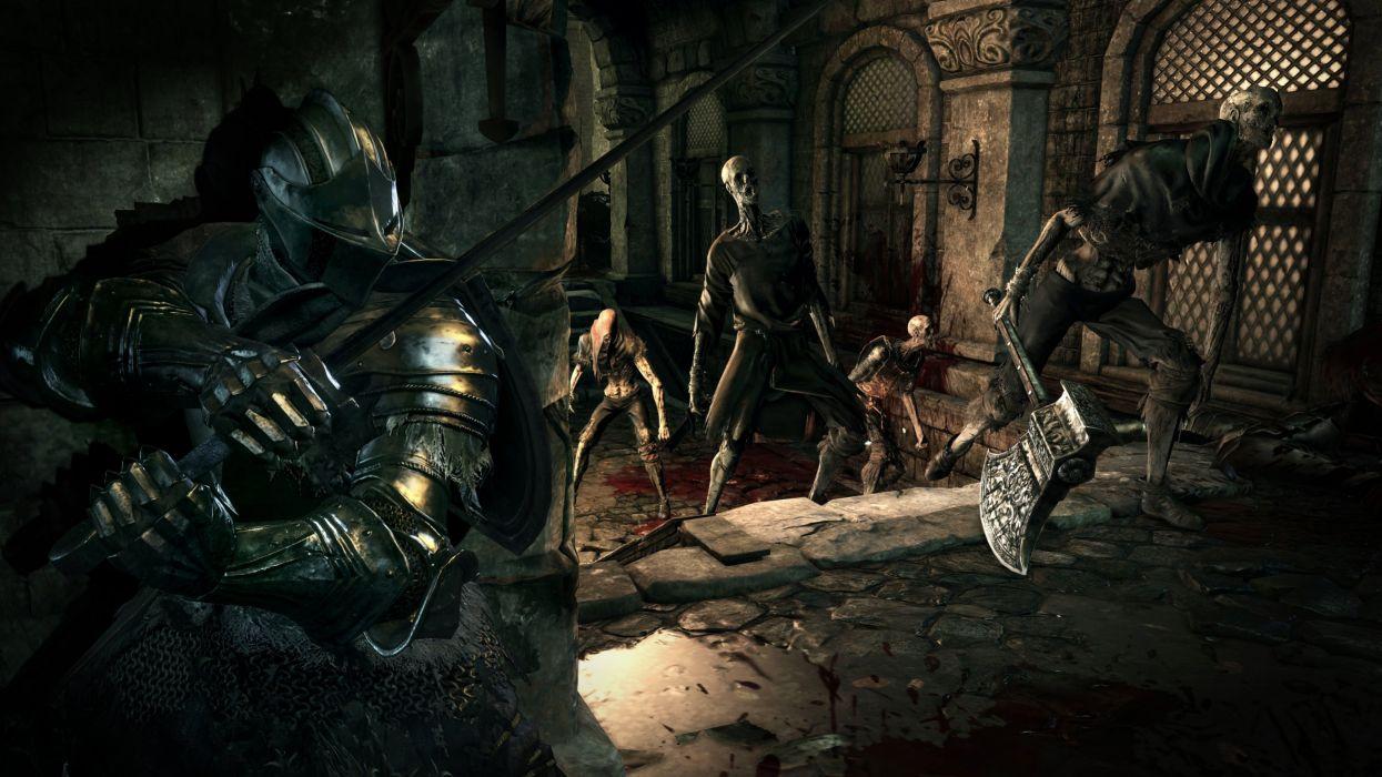 DARK SOULS 3 action rpg fighting warrior fantasy wallpaper