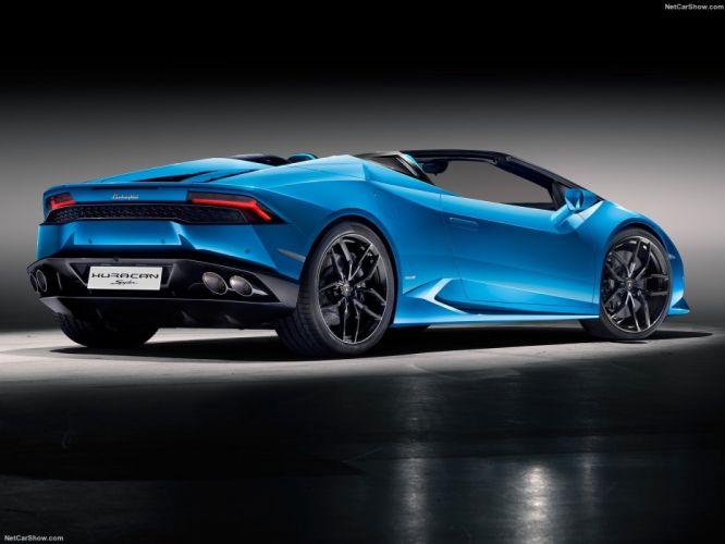 Lamborghini Huracan LP610-4 Spyder cars supercars blue 2017 wallpaper