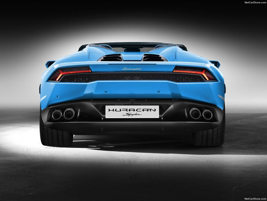 Lamborghini Huracan LP610-4 Spyder cars supercars blue 2017 wallpaper
