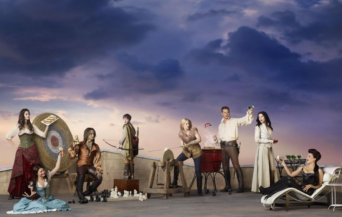 ONCE-UPON-A-TIME fantasy drama mystery once upon time adventure series disney wallpaper