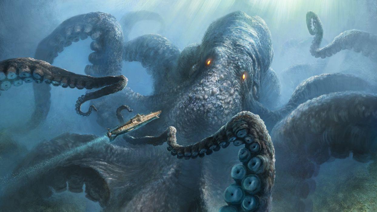 craquer monstruo marino pulpo wallpaper