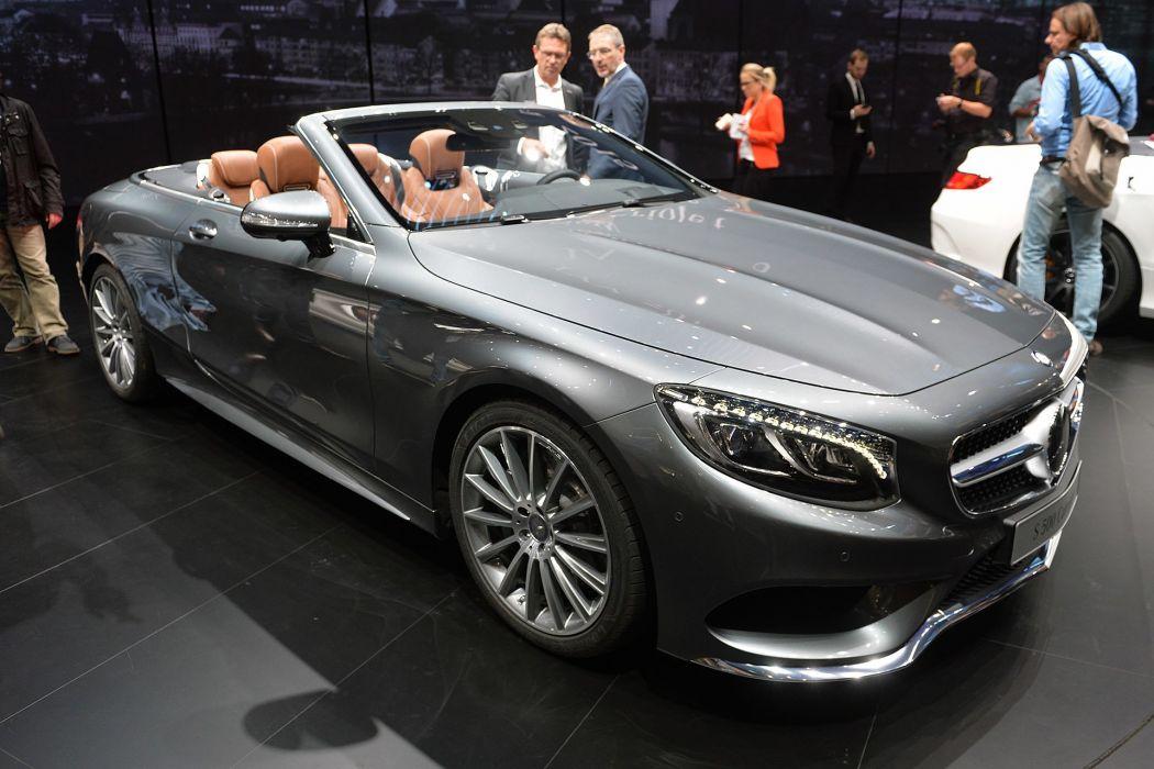 2016 Mercedes S-500 Cabriolet cars wallpaper