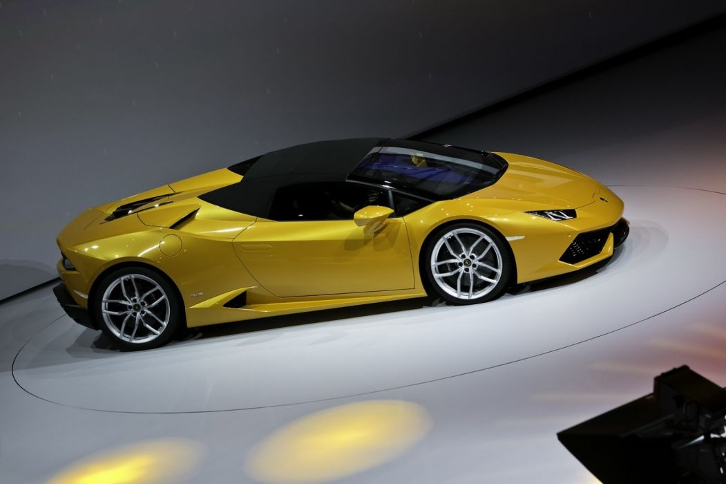 2017 Blue cars huracan Lamborghini LP610-4 spyder supercars wallpaper