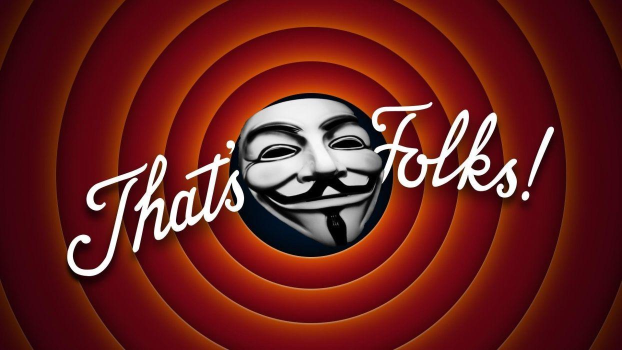 LOONEY TUNES humor funny cartoon family Merrie Melodies poster anonymous hacker hack hacking sadic wallpaper