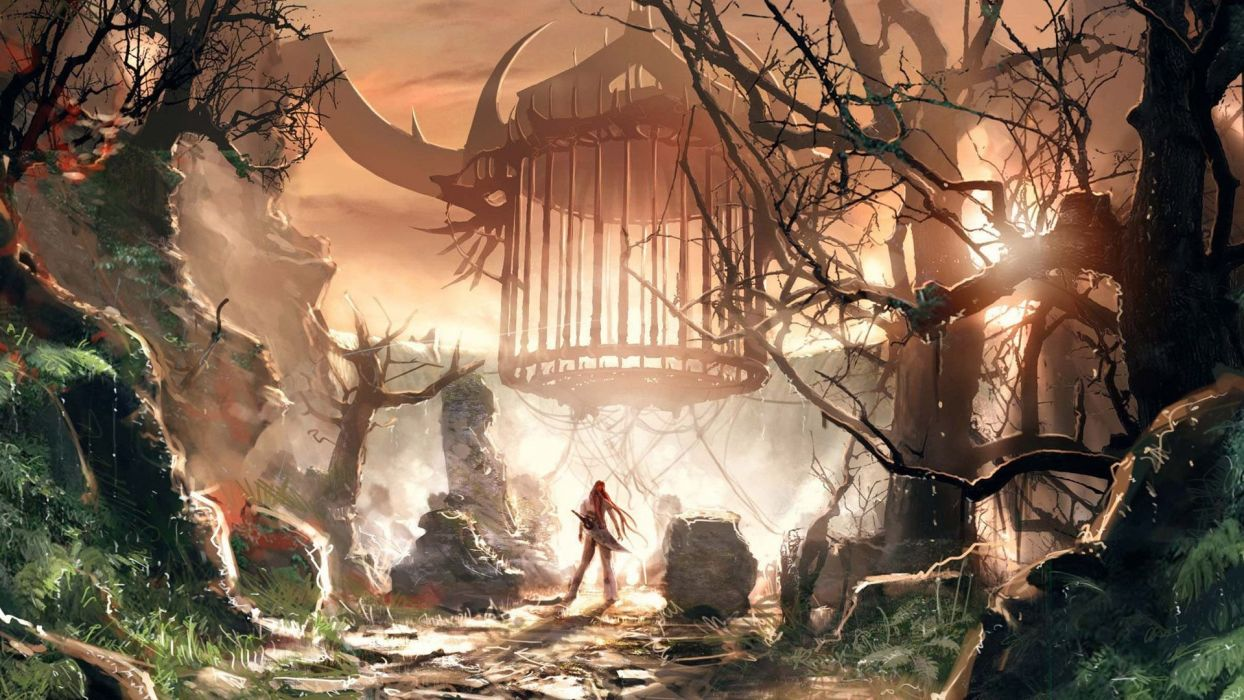 bosque terror fantasia wallpaper