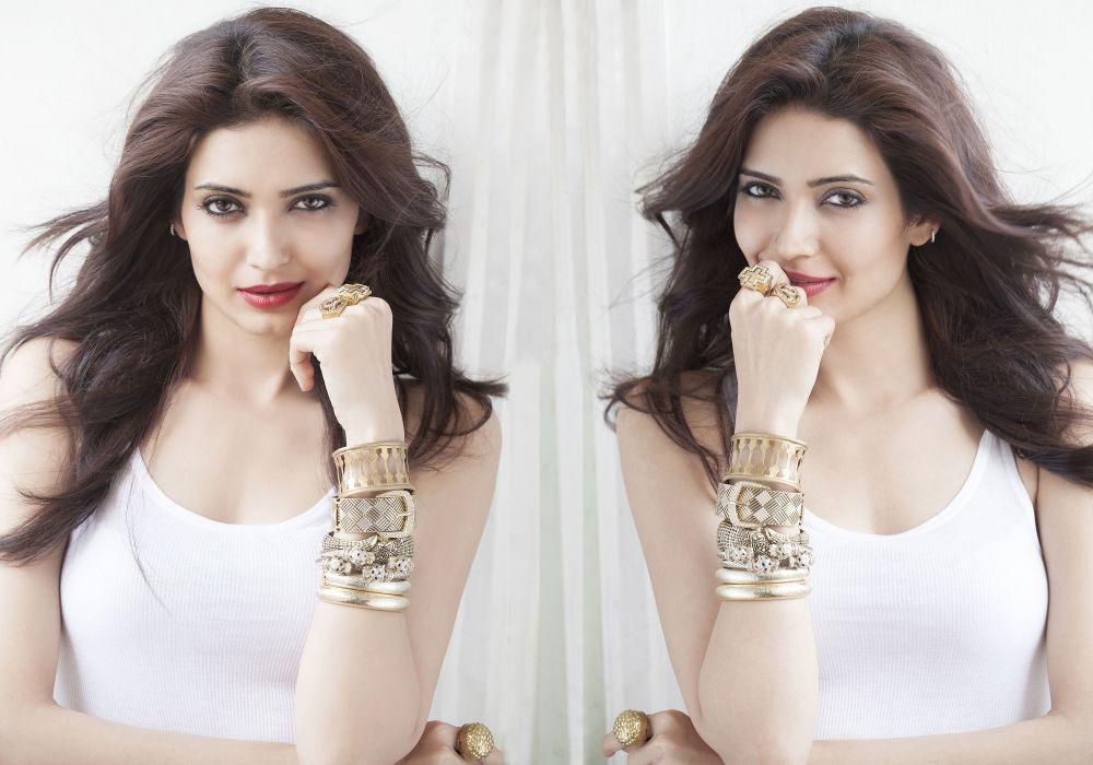 karishma tanna bollywood actress model girl beautiful brunette pretty cute beauty sexy hot pose face eyes hair lips smile figure indian  wallpaper