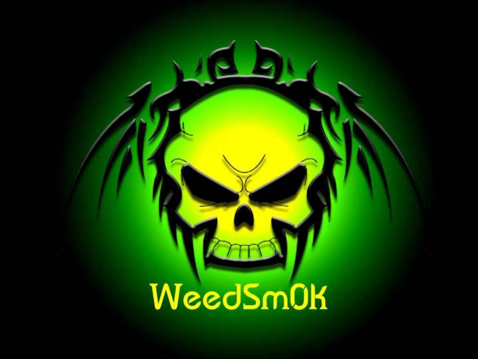 DARK evil horror spooky creepy scary skull 420 marijuana weed drugs wallpaper