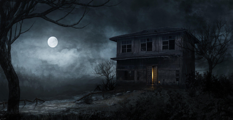 DARK Evil Horror Spooky Creepy Scary Wallpaper 2900x1500
