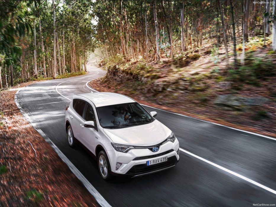 Toyota Rav4 Hybrid Eu Version Cars Suv White 2016