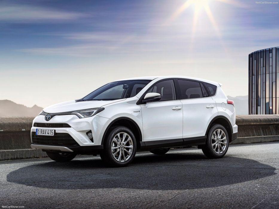 Toyota Rav4 Hybrid Eu Version Cars Suv White 2016 Wallpaper