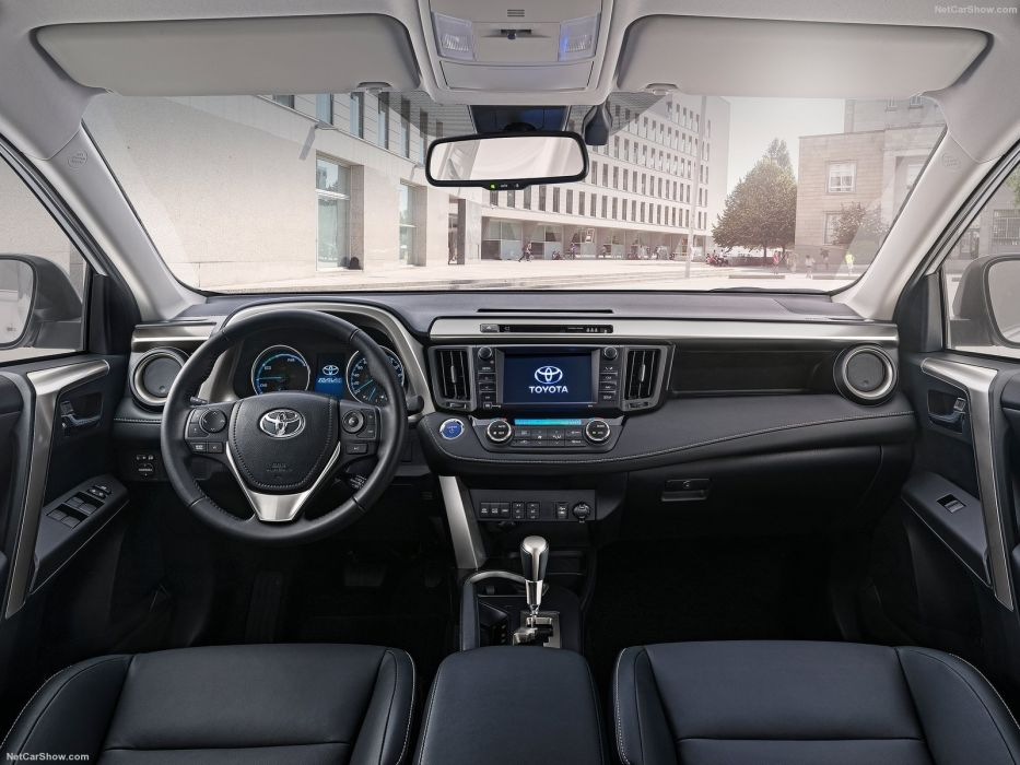 Toyota RAV4 Hybrid EU-Version cars suv white 2016 wallpaper
