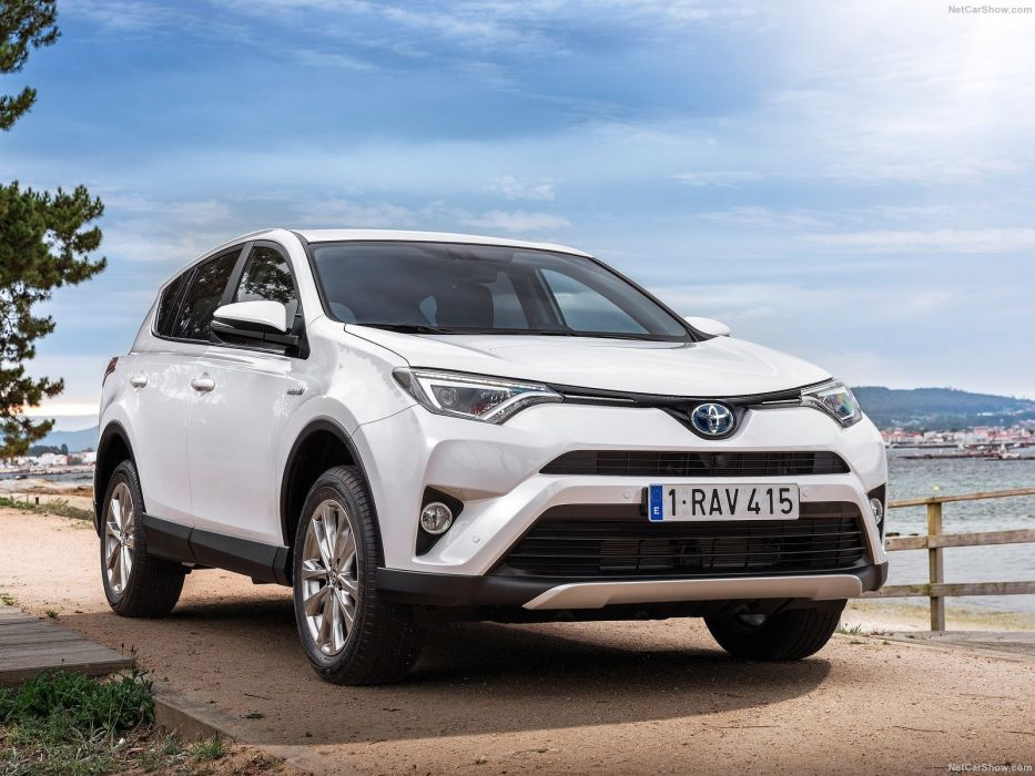 Toyota RAV4 Hybrid EU-Version cars suv white 2016 wallpaper