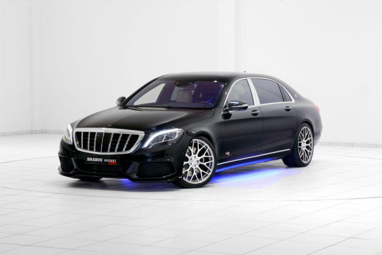 brabus rocket mercedes 900 cars v12 luxury black modified wallpaper