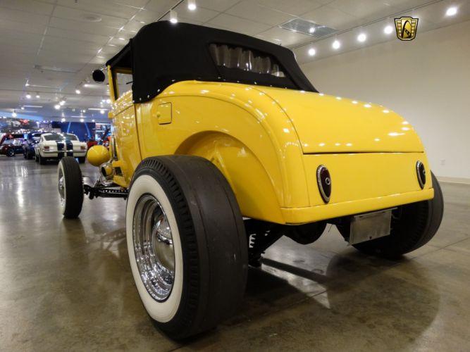 1929 Ford Roadster yellow cars custom hot rod wallpaper