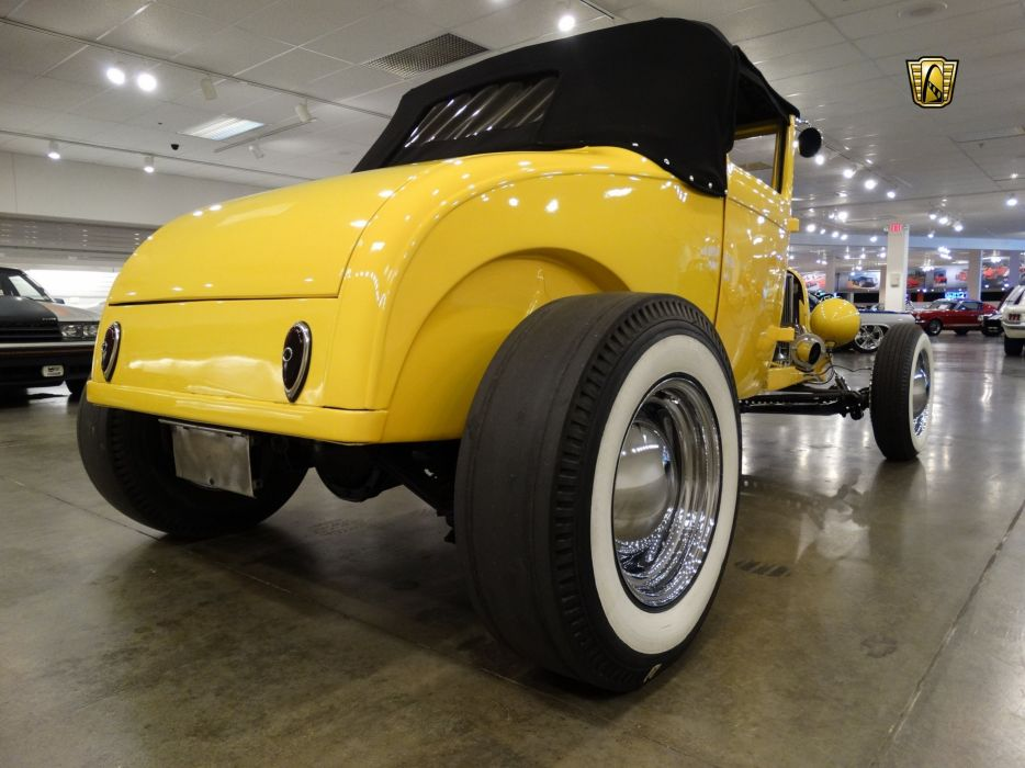 1929 Ford Roadster yellow cars custom hot rod wallpaper