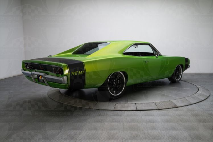 1968 Dodge Charger green coupe cars Pro Touring wallpaper