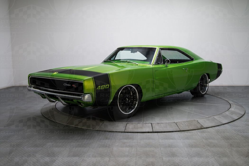 1968 Dodge Charger Green Coupe Cars Pro Touring Wallpaper 1708x1139 805145 Wallpaperup