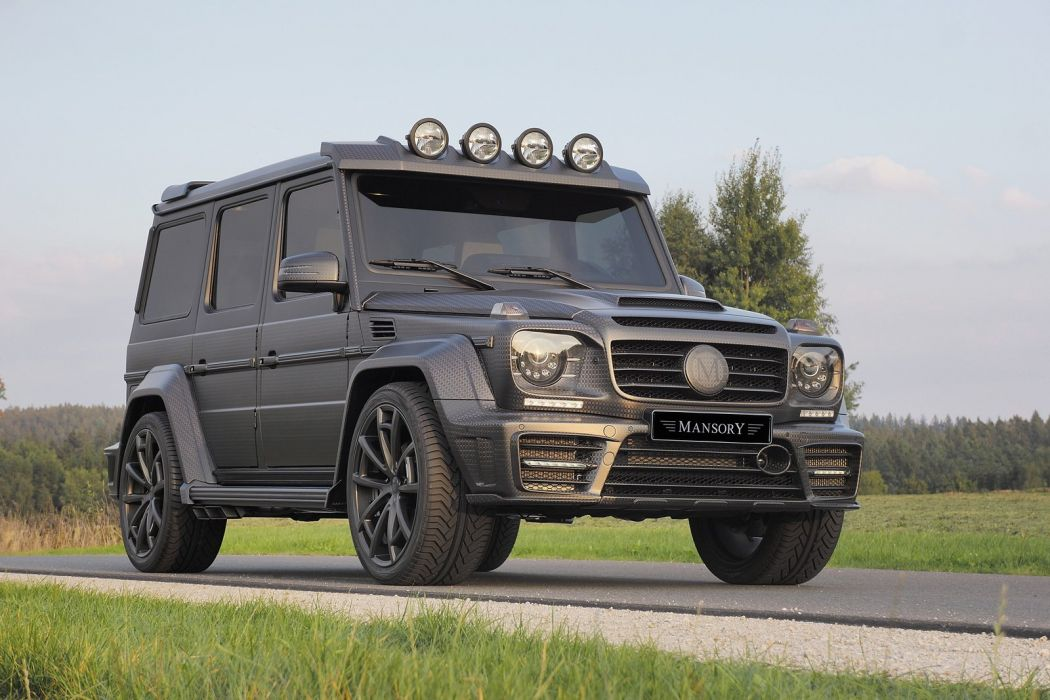 Mansory mercedes G63 amg Gronos Black Edition cars 4x4 modified black wallpaper