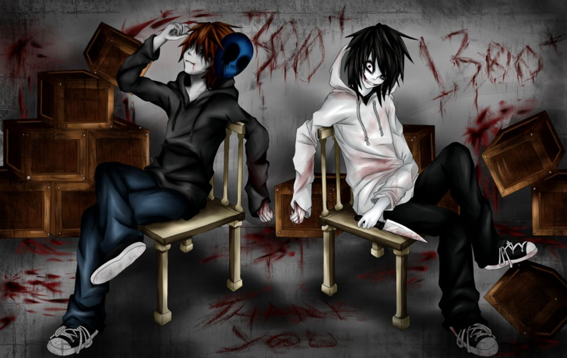 Jeff the killer and Eyeless Jack wallpaper