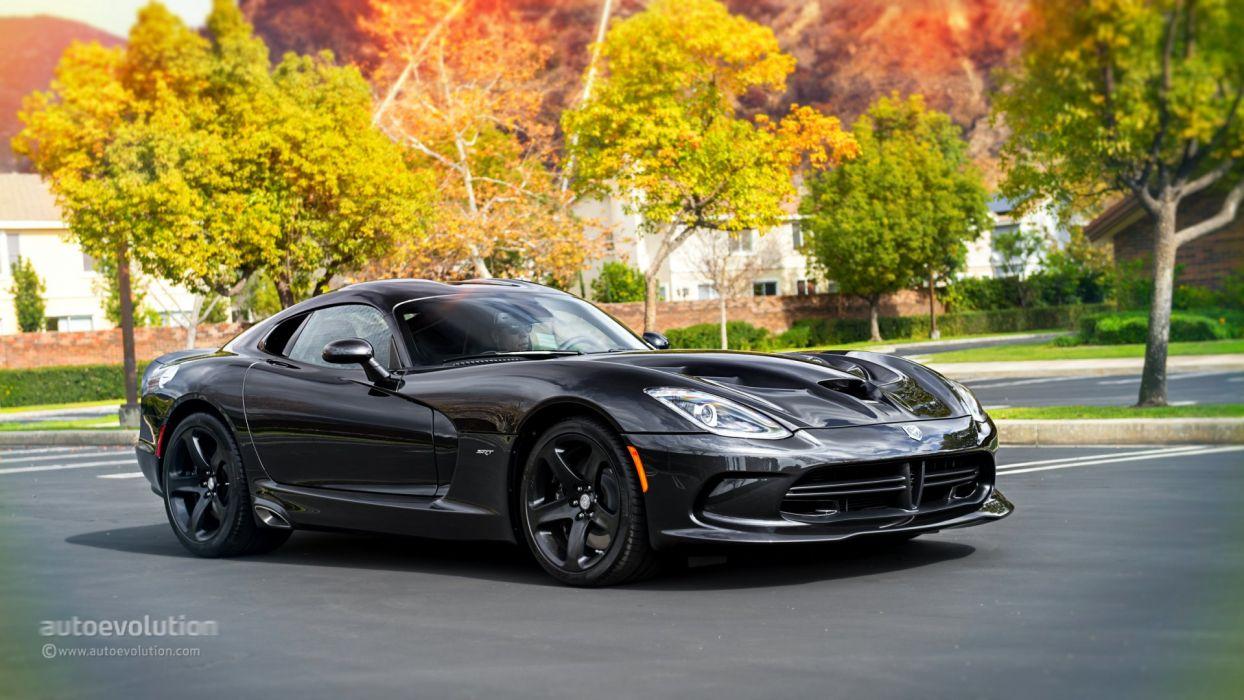 2014 SRT Viper cars coupe black wallpaper