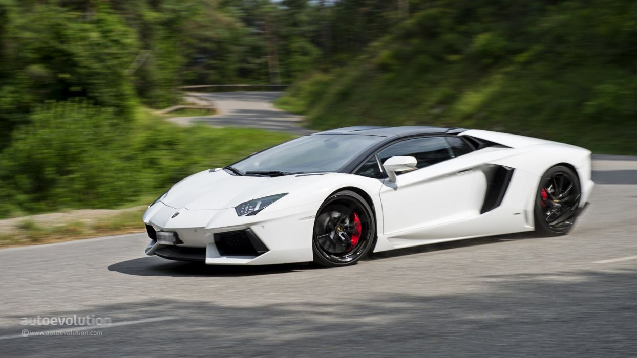 2014 LAMBORGHINI Aventador Roadster cars supercars white wallpaper