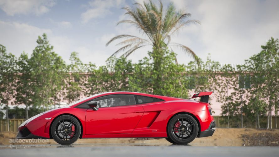 LAMBORGHINI Gallardo Super Trofeo Stradale cars supercars red wallpaper