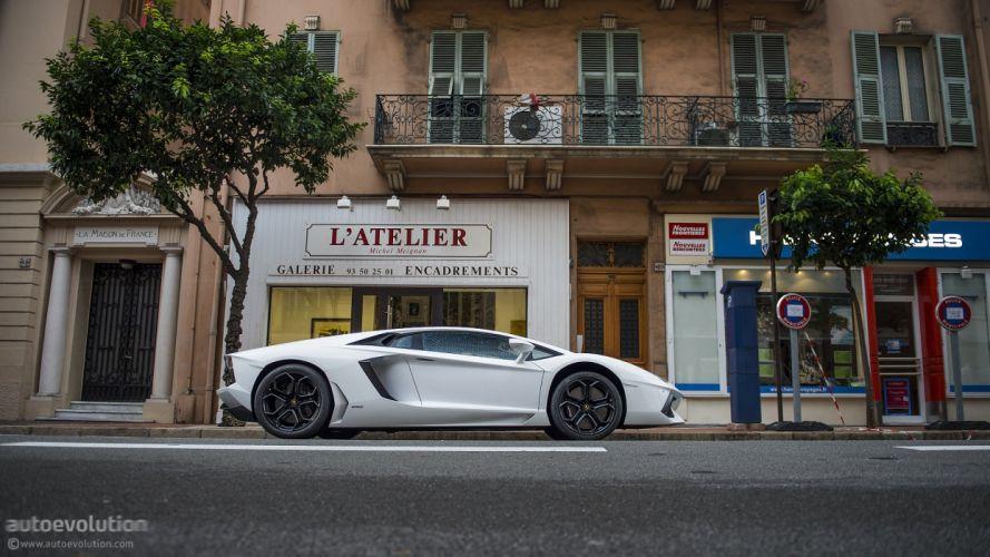 LAMBORGHINI Aventador coupe cars supercars white wallpaper