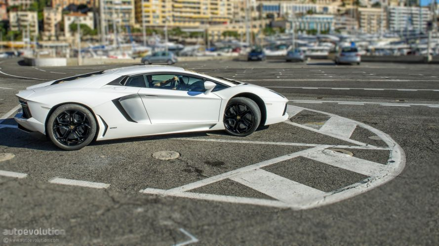 LAMBORGHINI Aventador coupe cars supercars white wallpaper