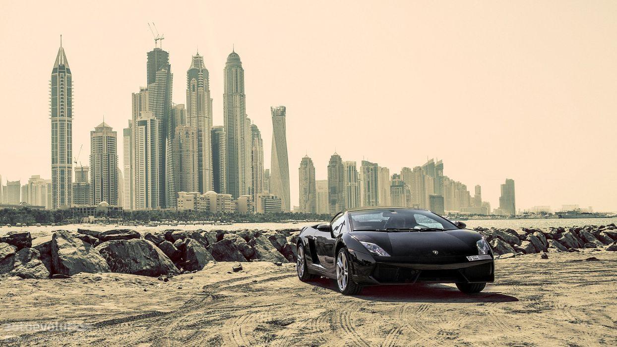LAMBORGHINI Gallardo LP550-2 Spyder cars supercars black wallpaper