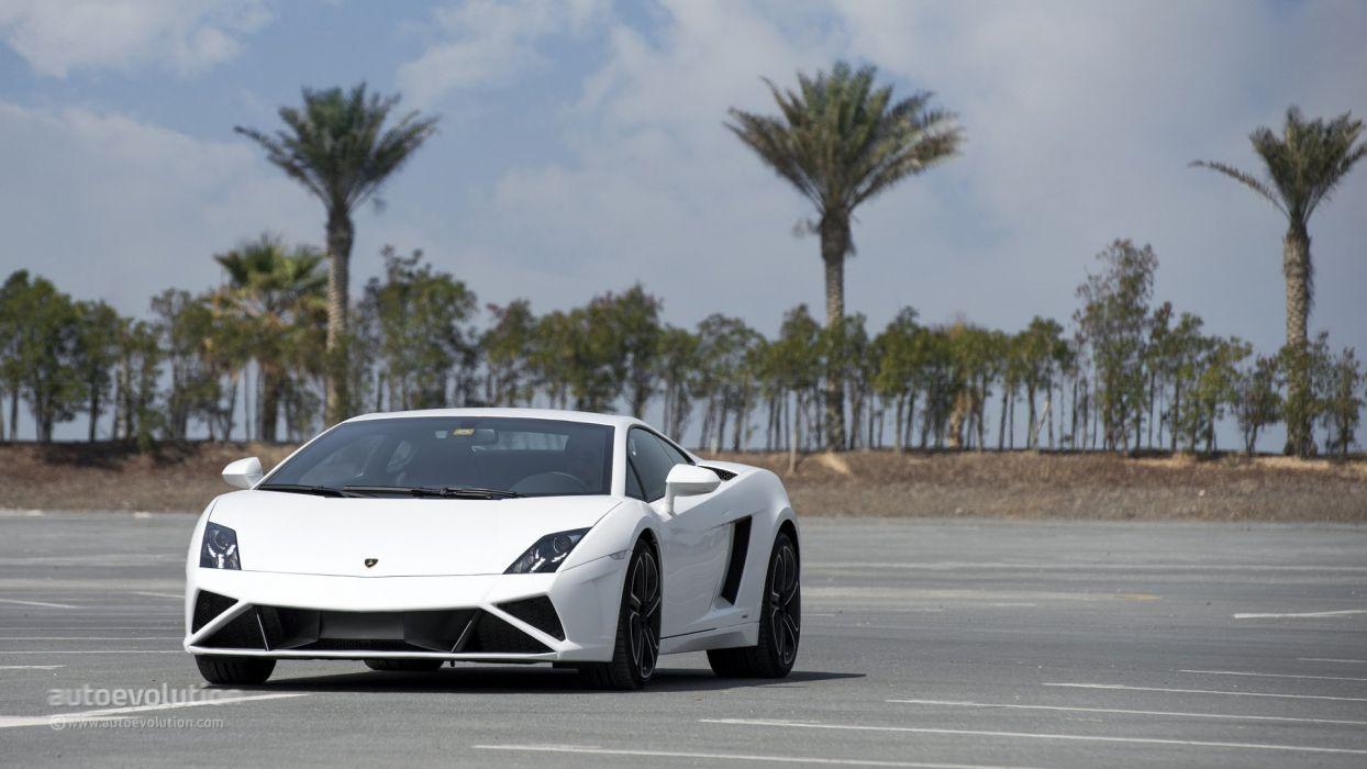 LAMBORGHINI Gallardo LP560-4 coupe cars supercars white wallpaper