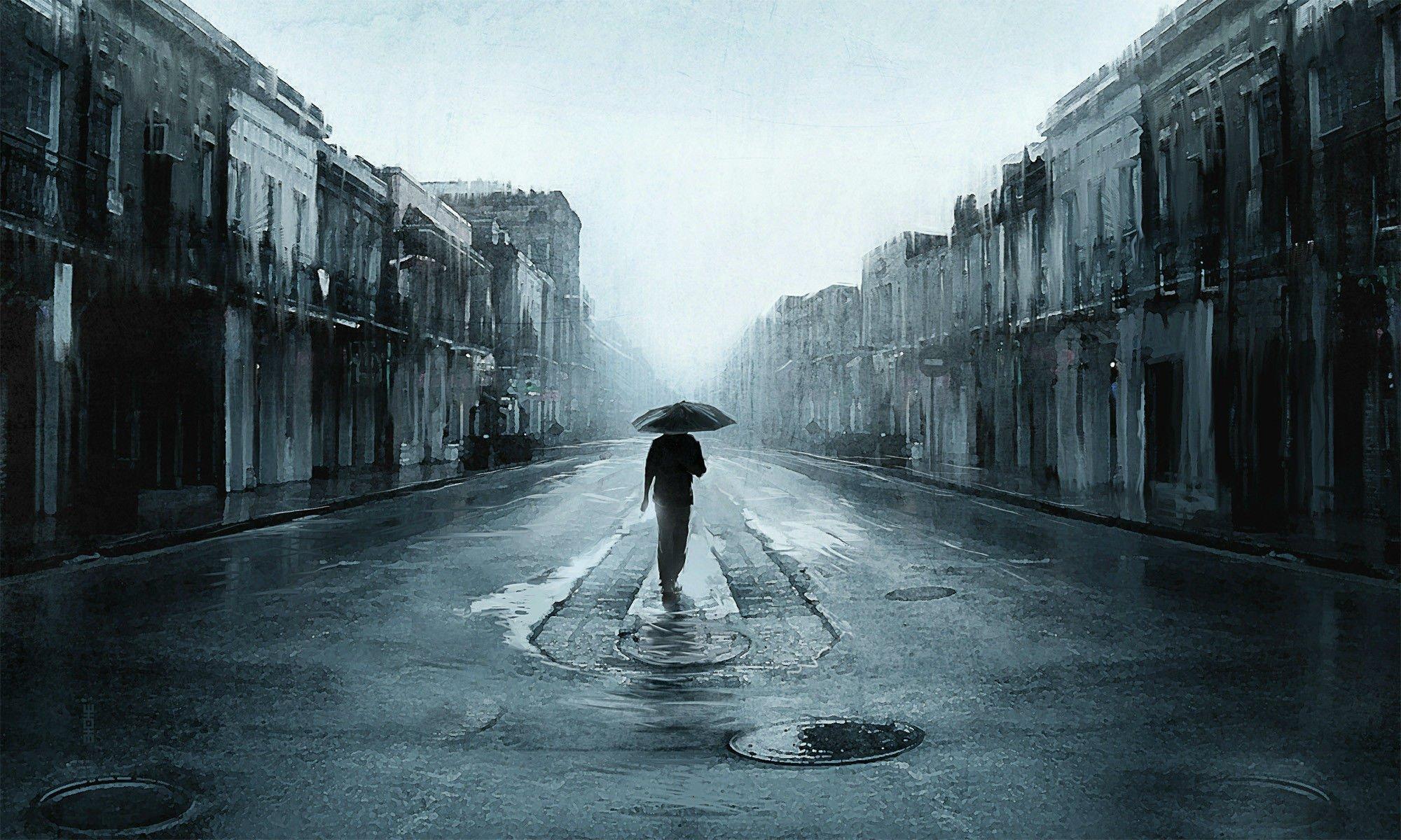 Depression sad mood sorrow dark people love rain wallpaper ...