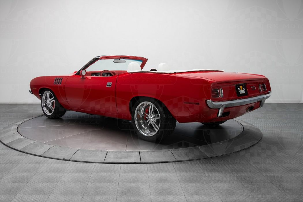 1971 Plymouth Cuda convertible cars pro touring red wallpaper