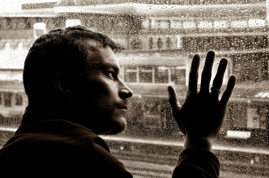 depression sad mood sorrow dark people love drops rain wallpaper