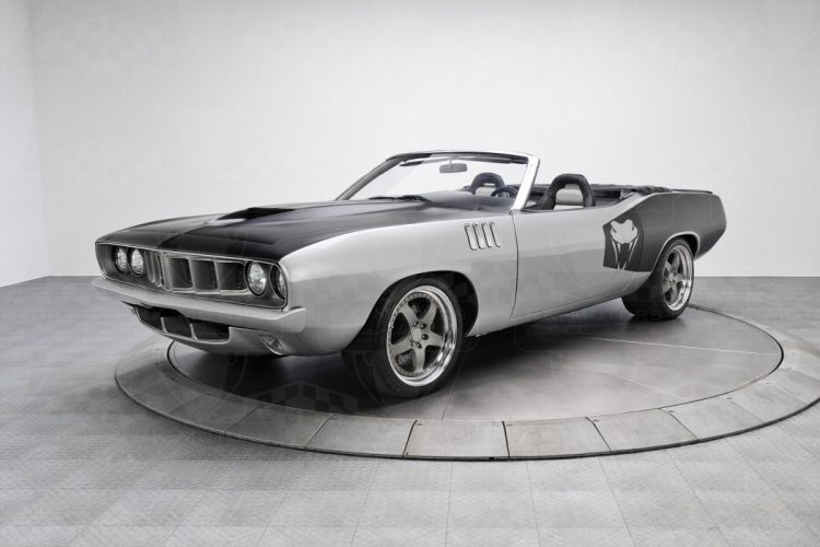 1971 Plymouth Cuda convertible cars supercharger wallpaper