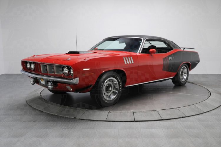 1971 cars coupe cuda plymouth red wallpaper